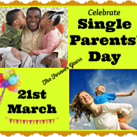 Single Parents' Day, 21st March